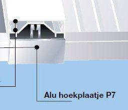 P7 Hoekplaatje overkapping