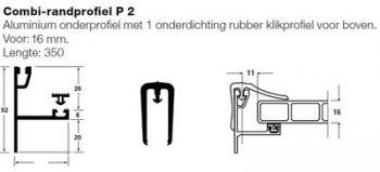combi-randprofiel voor afdichting van linker en rechter zijden overkapping