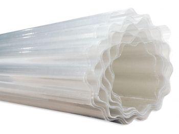 Golfplaten polyester op rol waterafloop 125 cm