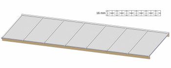 Overkapping dak maken zelfdragend tot 300 cm