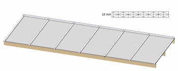 Atlas acomfa dakpakket voor terrasoverkapping zelfdragend tot 170 cm