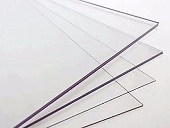 Massief Plexiglas plaat polycarbonaat 305 x 205 L x B (3 en 4 mm)