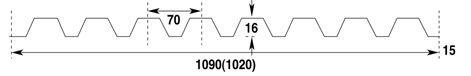 Damwandprofiel lichtdoorlatend transparant type N