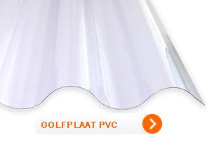 Golfplaat transparant pvc 1 mm dik