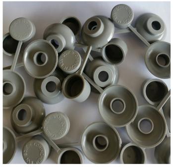 100 stuks losse combidoppen type golfprofiel F kleur grijs (dop met ring)